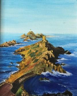 Petit rocher en Corse