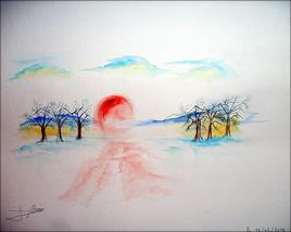 Crépuscule d'hiver