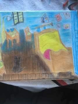le chat dans la chambre de Van Goth