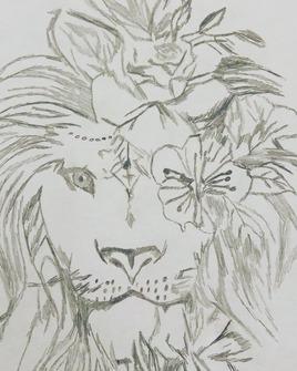 Lion Fleuri