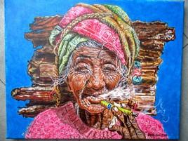 Fumeuse de havane