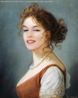 Marilyn revisite une peinture d' Elisabeth Vigee Le Brun..