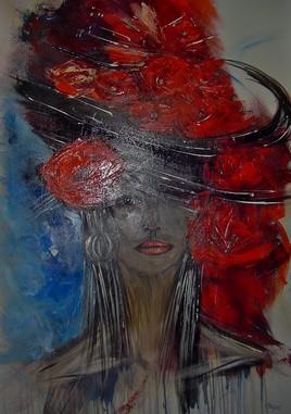 Femme au chapeau fleuri