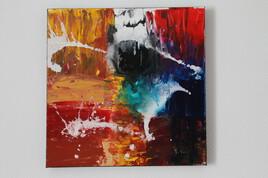 Tableau moderne à la peinture acrylique pour la décoration, peinture d'art contemporain, sur toile