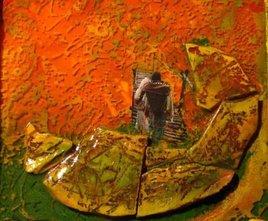 Passerelle (détail) (66 x 6 x 66 cm)