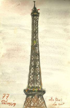 124 La Tour la nuit 1977   PARIS