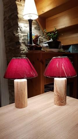 lampes de Chevet en Hêtre Fusé