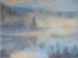 Brume sur le Lac des Taillères