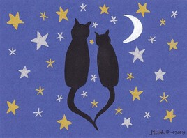 Chats sur un semis d'étoiles