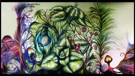 Ymagyne : Fresque murale Jungle