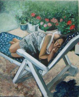 femme au repos
