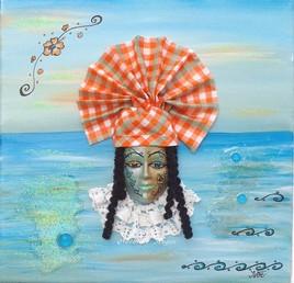 Inspiration Créole (tableau masque)