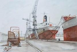 le travail au port de la joliette a MARSEILLE