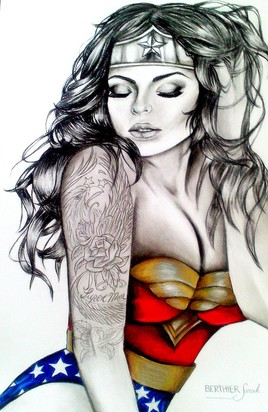 Dessin wonder woman + tatouages
