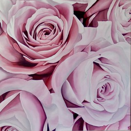 Les roses roses toile 1
