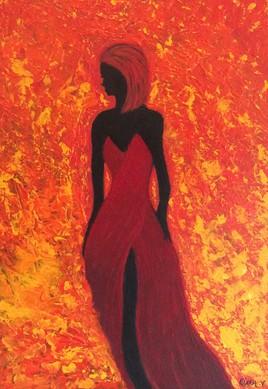 La femme non atteinte par le feu