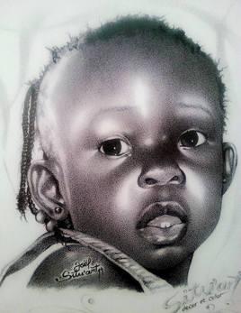 Dessin l'enfant Africain