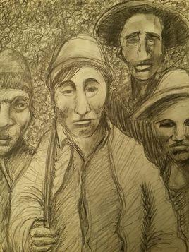 Hommes des Andes, début du XXème siècle.