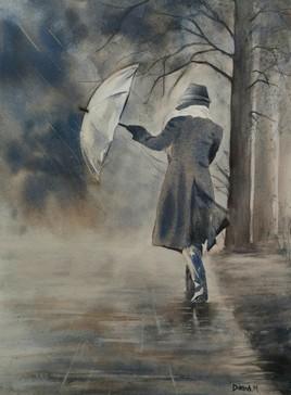 La pluie arrive
