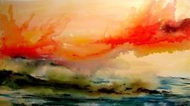 Le ciel en feu sur terre et mer