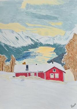 Alba sul fjord