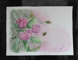 Rose mauve  mouillé / mouillé