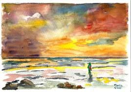 La femme et la mer