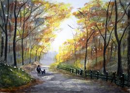 Promenade sous les bois