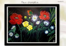 FLEURS CHAMPETRE ......( Aquarelle 42 )