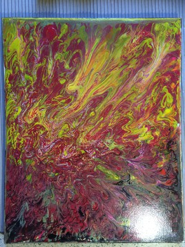 Art abstract brut