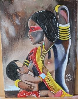 """""""Amazonienne et son enfant""""..."""