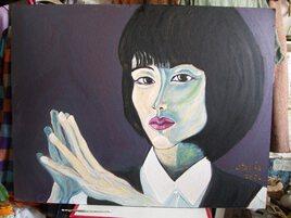 """"""" La panthère bleue ... """" ( insp. by Suzu Hirose from Japan )"""