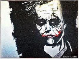 Joker peinture à l'huile
