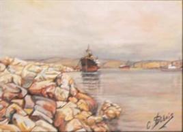 le long du port de Marseille
