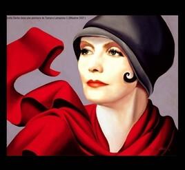 Greta Garbo revisite une peinture de Tamara Lempicka..