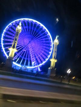 roue sur esplanade pentue