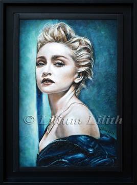 Peinture à l'huile, encadrée, Madonna: True Blue