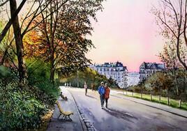 Paris, les Buttes-Chaumont.