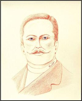 Portrait homme moustachu / Drawing Portrait of o man with a mustache