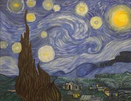Reproduction de La Nuit Etoilee de Van Gohg.