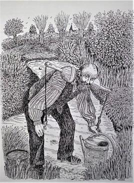 Corvée d'eau marais de saint Omer dans les années 1900