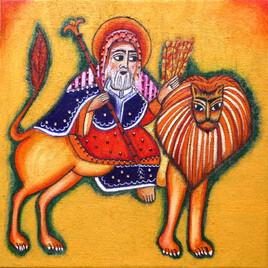 Le roi Salomon sur son lion d'apparat