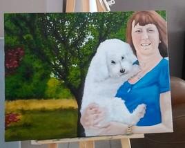 Mme Claude et son chien