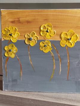 La série des fleurs jaunes