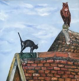Le chat et le grand duc -Maison Milliere à Dijon
