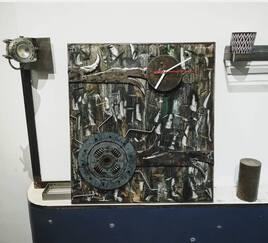 Tableau mécanique undustry horloge