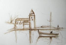 Esquisse pour le port de Collioure