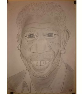Caricature Morgan Freeman