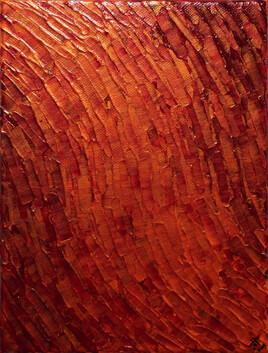 Mouvement texture / Orange Rouge