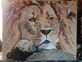 Lion pensif